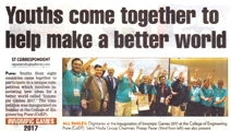 1st Innompic Games, Hindustan Times newspaper article, Youth come together to help make a better world