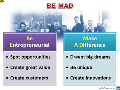Vadim Kotelnikov - BE MAD - Be Entrepreneurial! Make A Difference! Vadim Kotelnikov