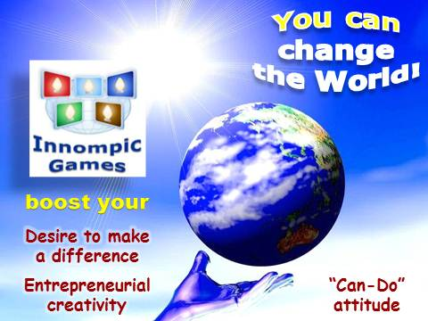 Innompics: You Can Change the World - boost your desire to make a difference, entrepreneurial creativity, can-do attitude