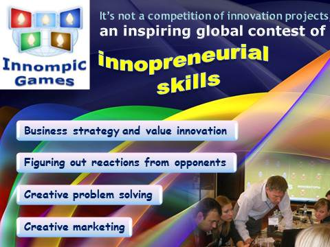 Innompic Games - Innompics - contest of innopreneurial arts: business strategy innovation, creative problem solving