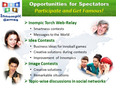 Innompics - Innompic Web Games - Partiicipation Opportunities for Actators - Active Spectators