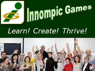 Innompic Games slogan, learn create thrive