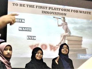 IPMA 2018 Malaysian student innovation Waste into WOW University Innompic Games