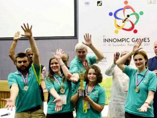 Best Innovation Team RUSSIA, 1st Innompic Games 2017, India