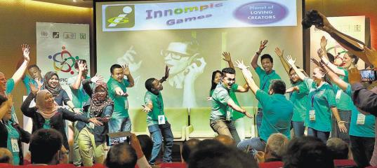 Innompic song, fun, joy, 1st Innompic Games, teams, gesture