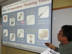 Othman Ismail, best innovation consultant in Malaysia, KoRe 10 Innovative Thinking Tools, Innompic Training