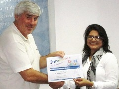 Dr. Manisha Acharya, Innompic master trainer, India, Vadim Kotelnikov, innovation guru, trainer