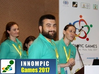 World's best innovation team Russia 1st Innompic Games India Ksenia Kotelnikova, Magomed Gamzatov