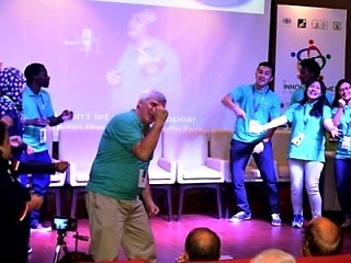 "Innompic song of the Millenium ""I Have a Difference To Make!"", Vadim Kotelnikov, international flash mob"