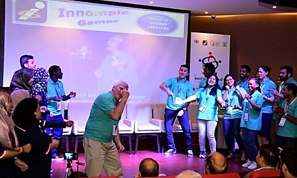 "Innompic song ""I Have a Difference To Make!"", Vadim Kotelnikov, 1st Innompic Games, teams singing, Malaysia International"