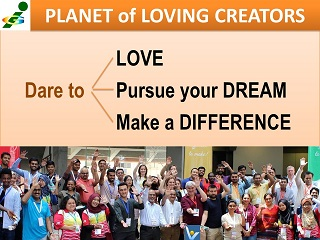Innompic Planet of Loving Creators Dare to Love, Pursue your dream, Male a Difference