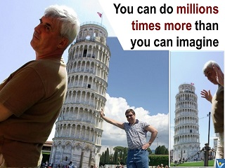 You can chan ge the world quotes funny pictures, Pisa tower, Vadim Kotelnikov photogram