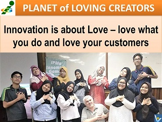 Malaysia Innompic Games IPMA 2018 Innovation is Love Innompic Planet of Loving Creators Gesture heart