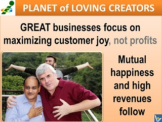 Great business is customer-focused, high revenues follow Innompic Planet of Loving Creators Vadim Kotelnikov Rajendra Jagdale Magomed Gamzatov