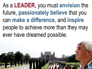 Leadership Attrrivutes quotes Envision the future believe inspire Vadim Kotelnikov